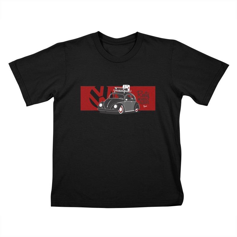 Rusty Never Sleeps Kids T-Shirt by Andrea Pacini