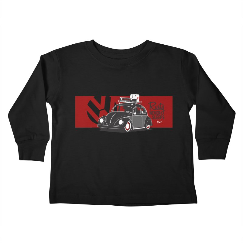 Rusty Never Sleeps Kids Toddler Longsleeve T-Shirt by Andrea Pacini