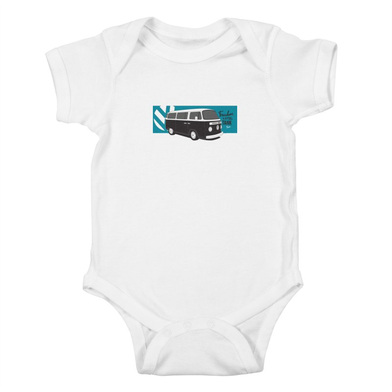 Freedom is a Full Tank Kids Baby Bodysuit by Andrea Pacini