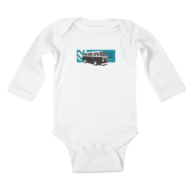 Freedom is a Full Tank Kids Baby Longsleeve Bodysuit by Andrea Pacini