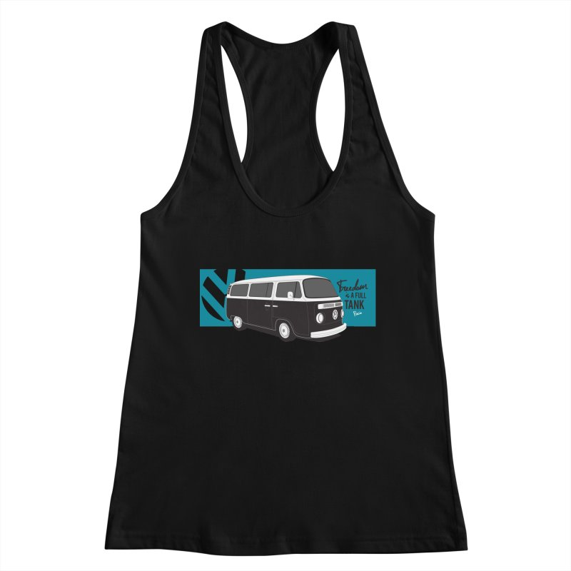 Freedom is a Full Tank Women's Tank by Andrea Pacini