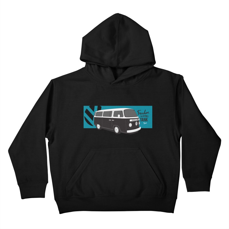 Freedom is a Full Tank Kids Pullover Hoody by Andrea Pacini
