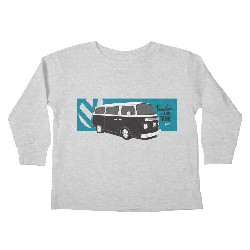 Freedom is a Full Tank Kids Toddler Longsleeve T-Shirt by Andrea Pacini
