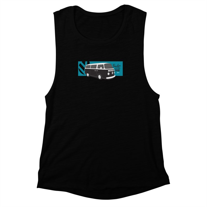 Freedom is a Full Tank Women's Muscle Tank by Andrea Pacini