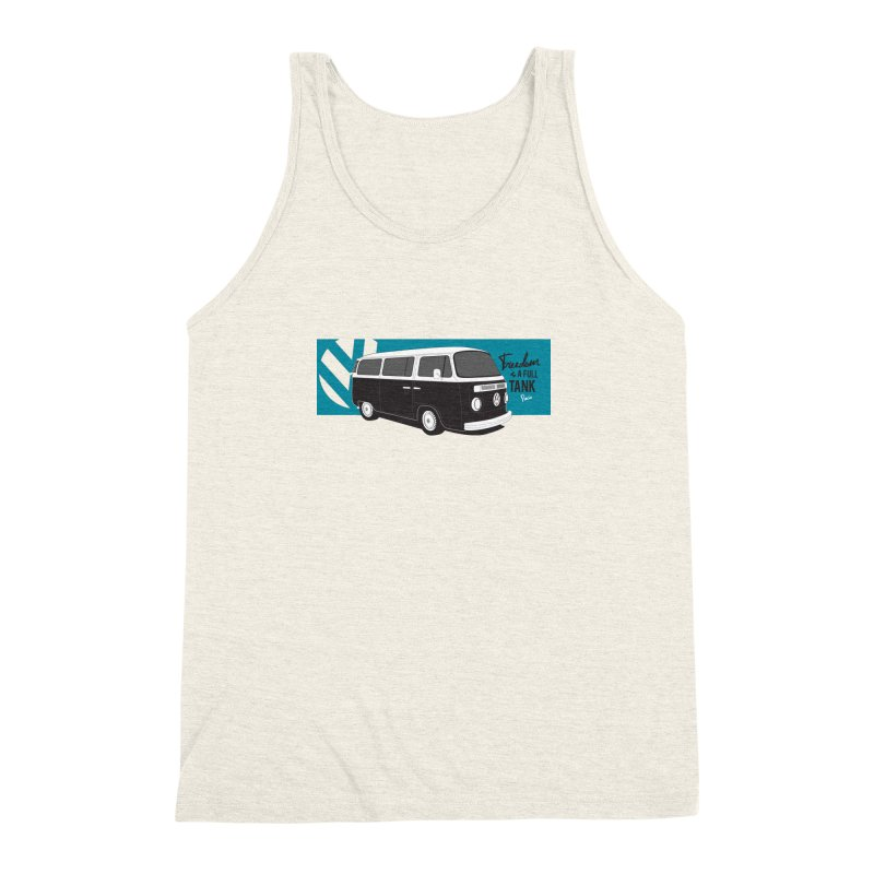 Freedom is a Full Tank Men's Triblend Tank by Andrea Pacini