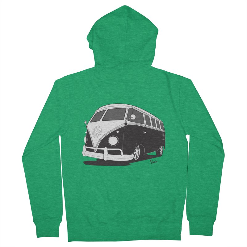 Samba Bus Men's Zip-Up Hoody by Andrea Pacini