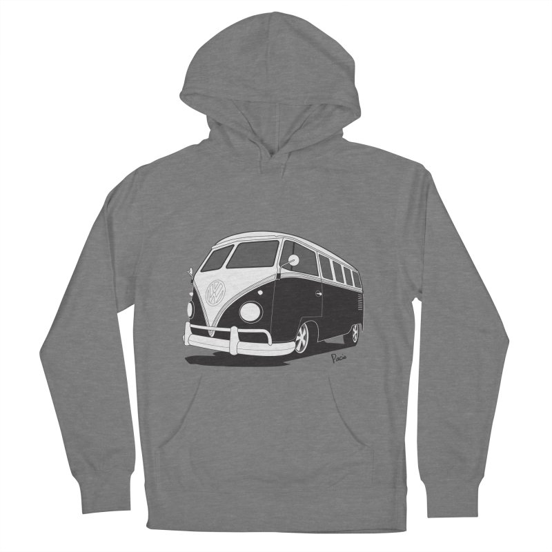 Samba Bus Women's French Terry Pullover Hoody by Andrea Pacini