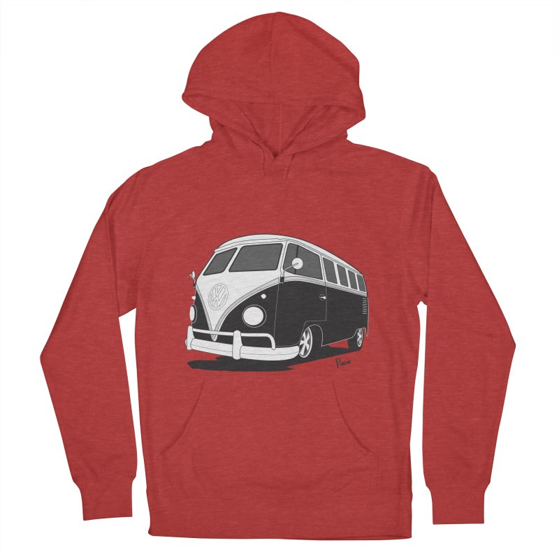 Samba Bus Men's French Terry Pullover Hoody by Andrea Pacini