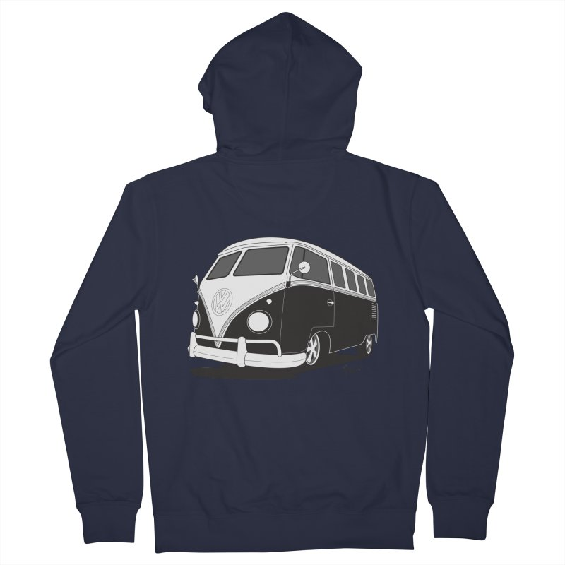Samba Bus Men's French Terry Zip-Up Hoody by Andrea Pacini