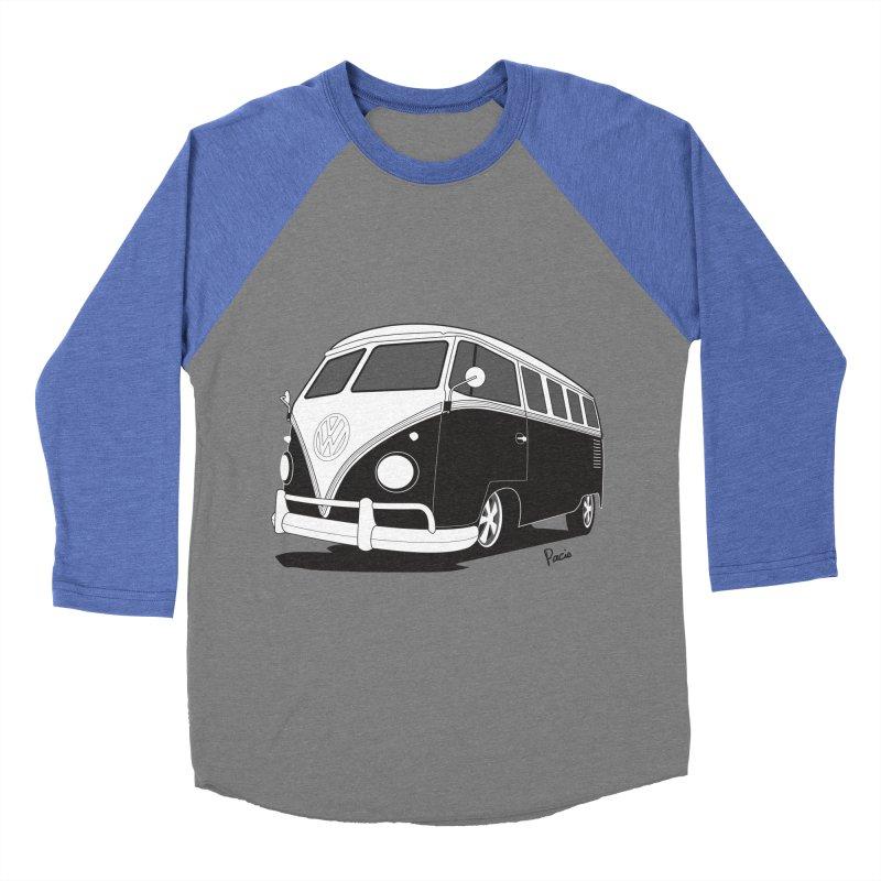 Samba Bus Men's Baseball Triblend T-Shirt by Andrea Pacini