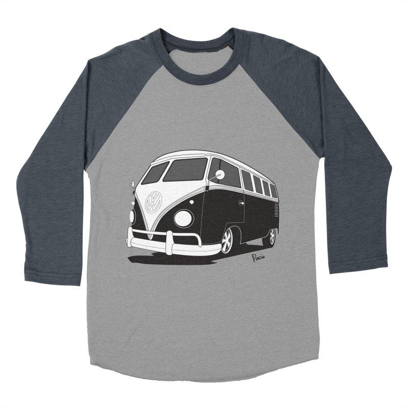 Samba Bus Men's Baseball Triblend Longsleeve T-Shirt by Andrea Pacini