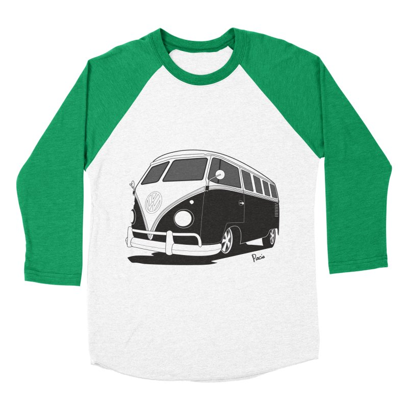 Samba Bus Men's Baseball Triblend Longsleeve T-Shirt by Andrea Pacini