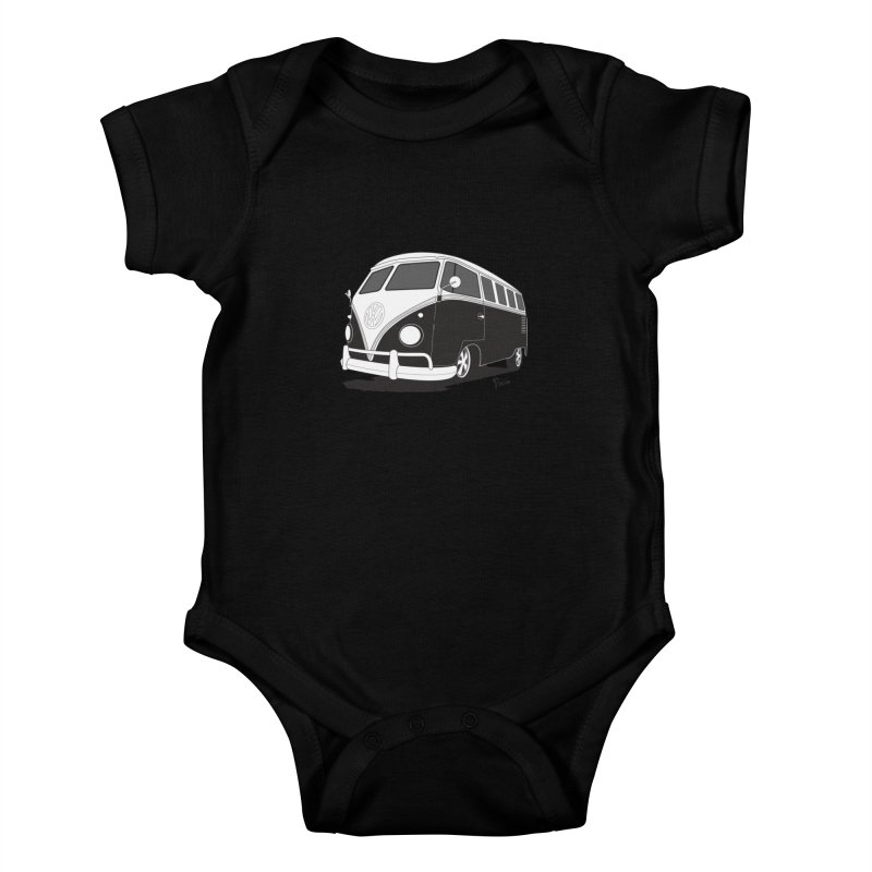 Samba Bus Kids Baby Bodysuit by Andrea Pacini