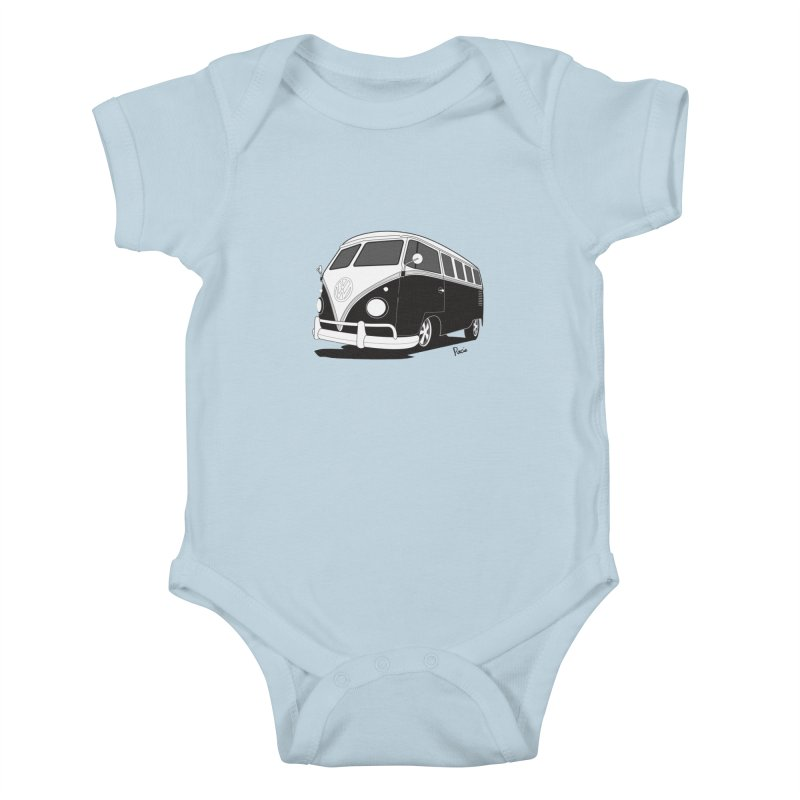 Samba Bus Kids Baby Bodysuit by Andrea Pacini