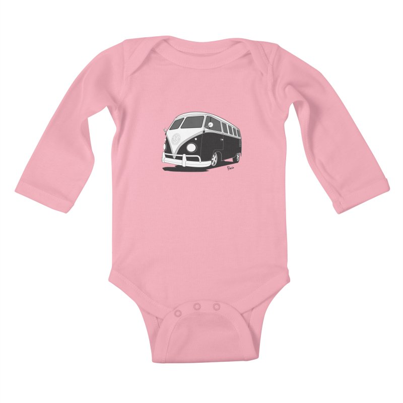 Samba Bus Kids Baby Longsleeve Bodysuit by Andrea Pacini