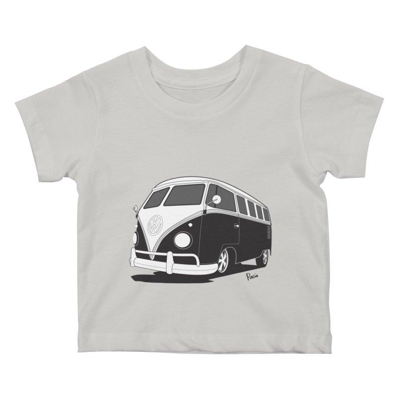 Samba Bus Kids Baby T-Shirt by Andrea Pacini