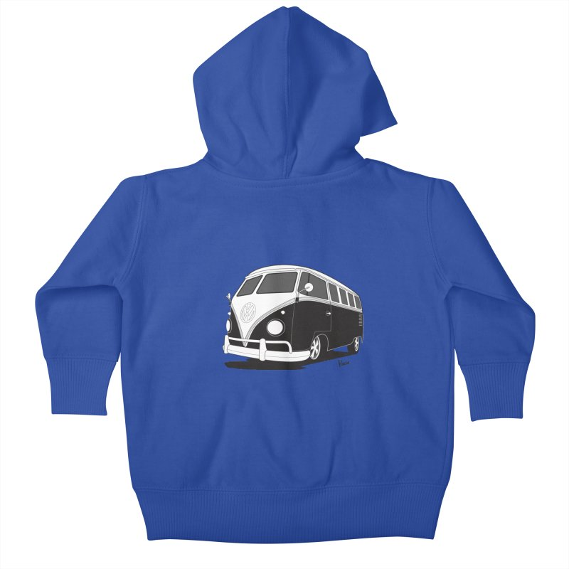 Samba Bus Kids Baby Zip-Up Hoody by Andrea Pacini