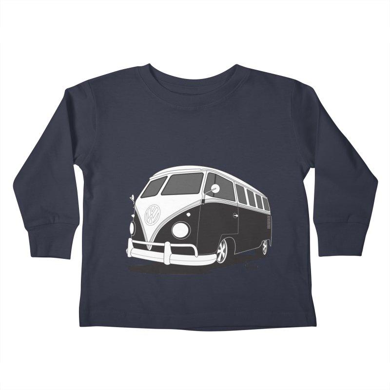 Samba Bus Kids Toddler Longsleeve T-Shirt by Andrea Pacini