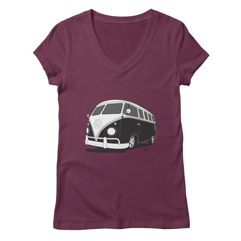 Samba Bus Women's V-Neck by Andrea Pacini