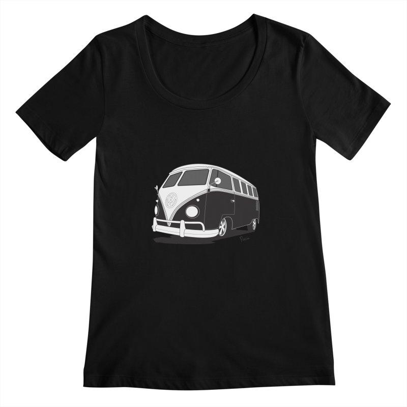 Samba Bus Women's Scoopneck by Andrea Pacini