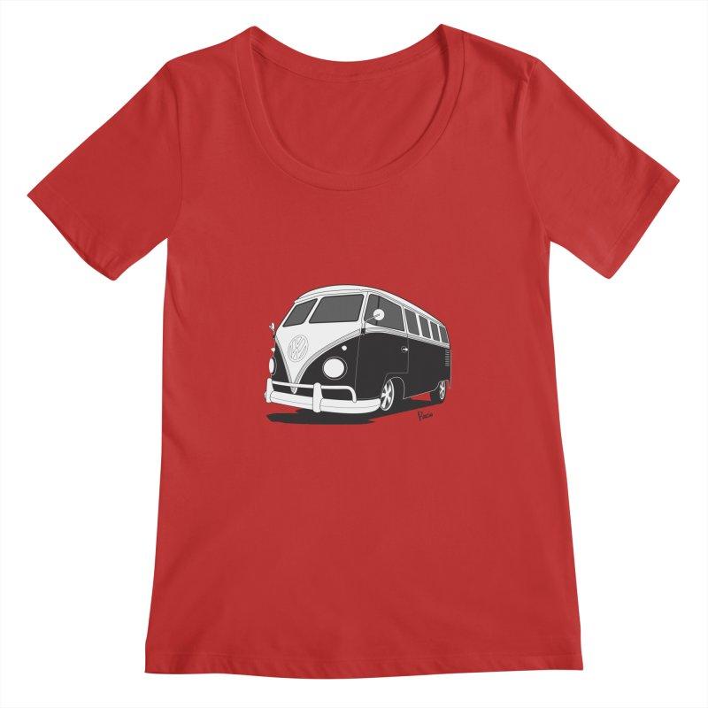 Samba Bus Women's Regular Scoop Neck by Andrea Pacini