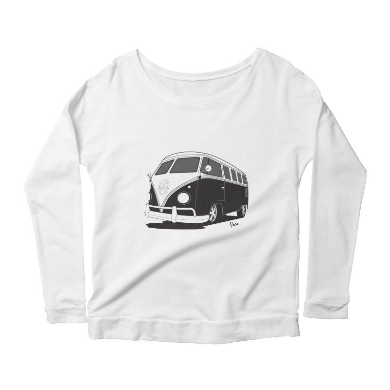 Samba Bus Women's Scoop Neck Longsleeve T-Shirt by Andrea Pacini