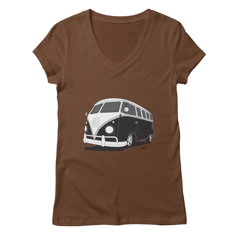 Samba Bus Women's V-Neck by Andrea Pacini