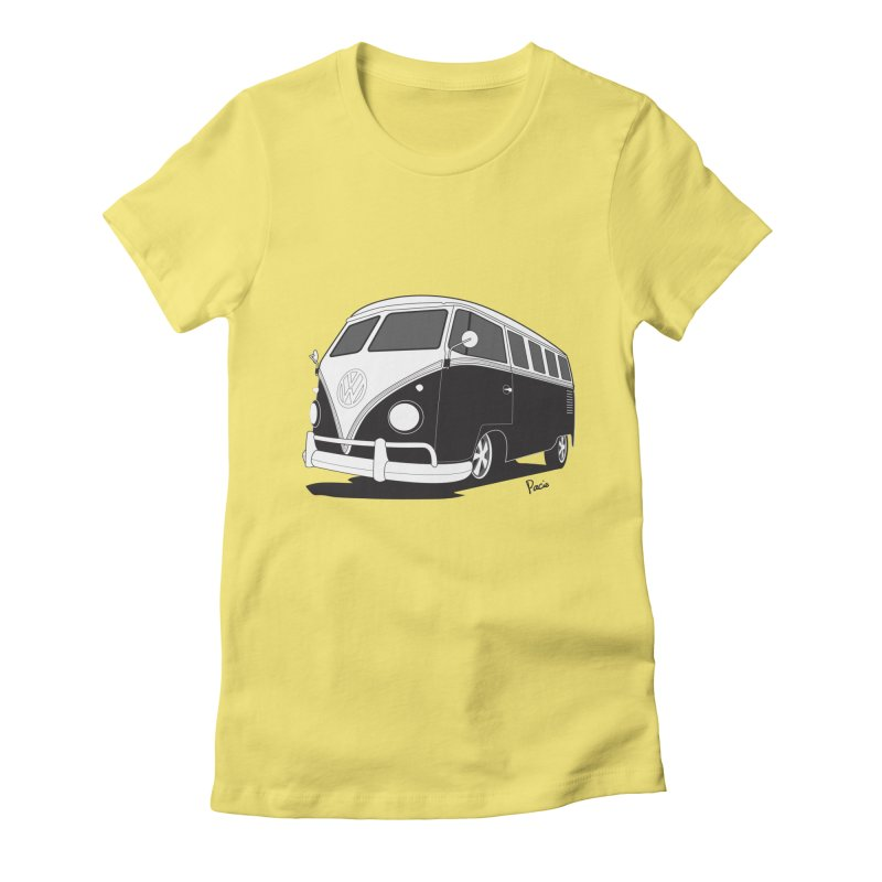 Samba Bus Women's Fitted T-Shirt by Andrea Pacini