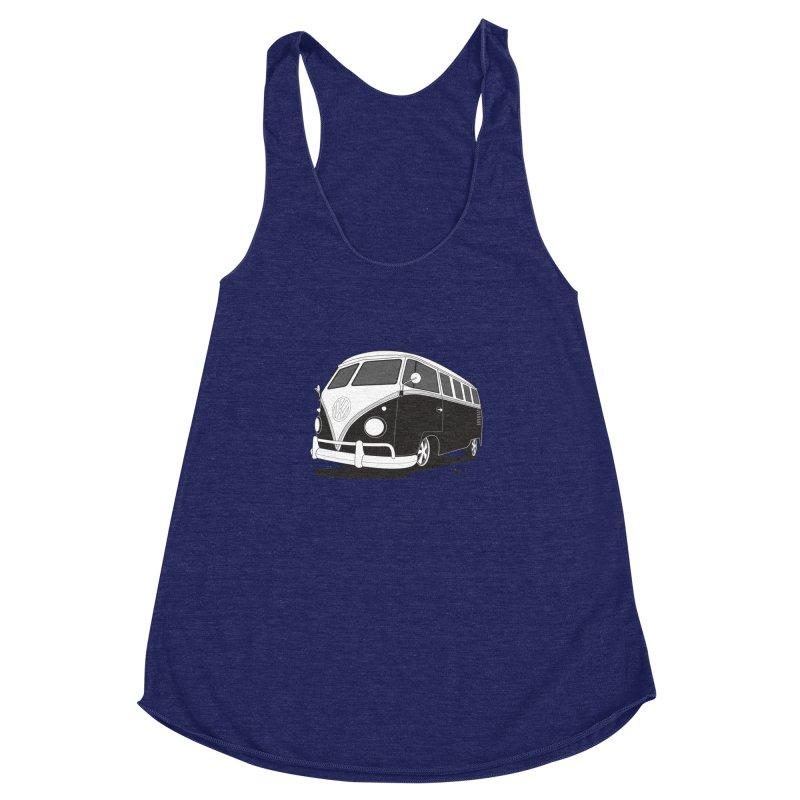 Samba Bus Women's Racerback Triblend Tank by Andrea Pacini