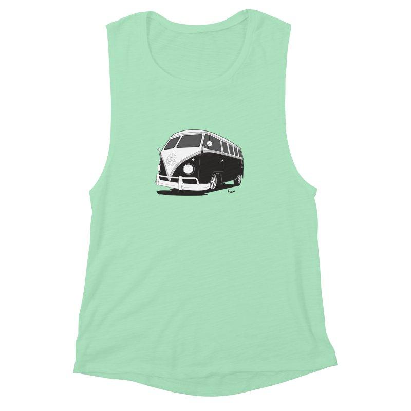 Samba Bus Women's Muscle Tank by Andrea Pacini