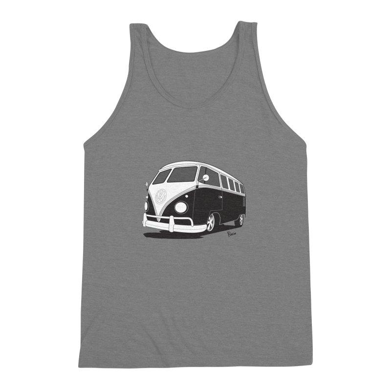 Samba Bus Men's Triblend Tank by Andrea Pacini