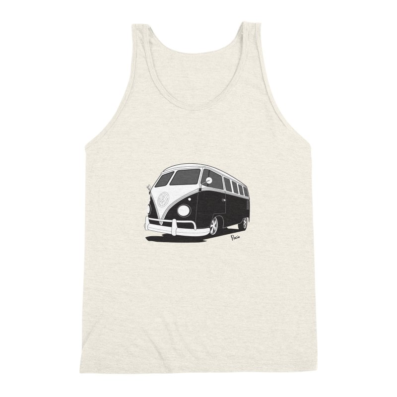 Samba Bus Men's Triblend Tank by Andrea Pacini