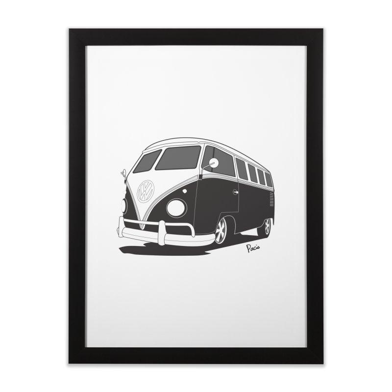 Samba Bus Home Framed Fine Art Print by Andrea Pacini