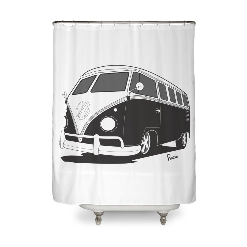 Samba Bus Home Shower Curtain by Andrea Pacini