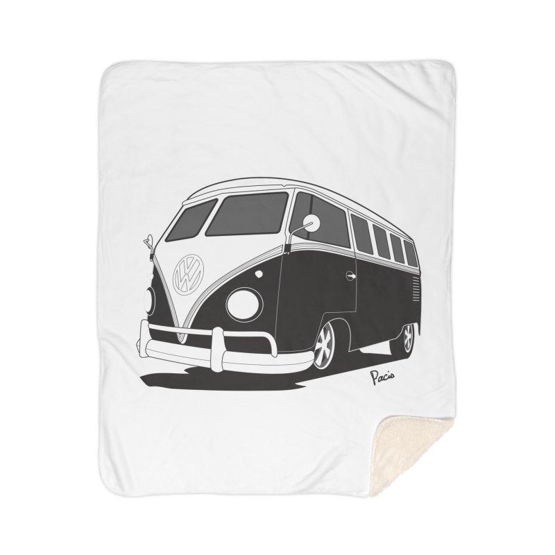 Samba Bus Home Sherpa Blanket Blanket by Andrea Pacini