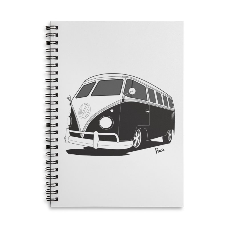 Samba Bus Accessories Lined Spiral Notebook by Andrea Pacini
