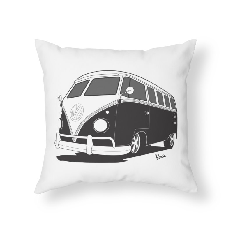 Samba Bus Home Throw Pillow by Andrea Pacini