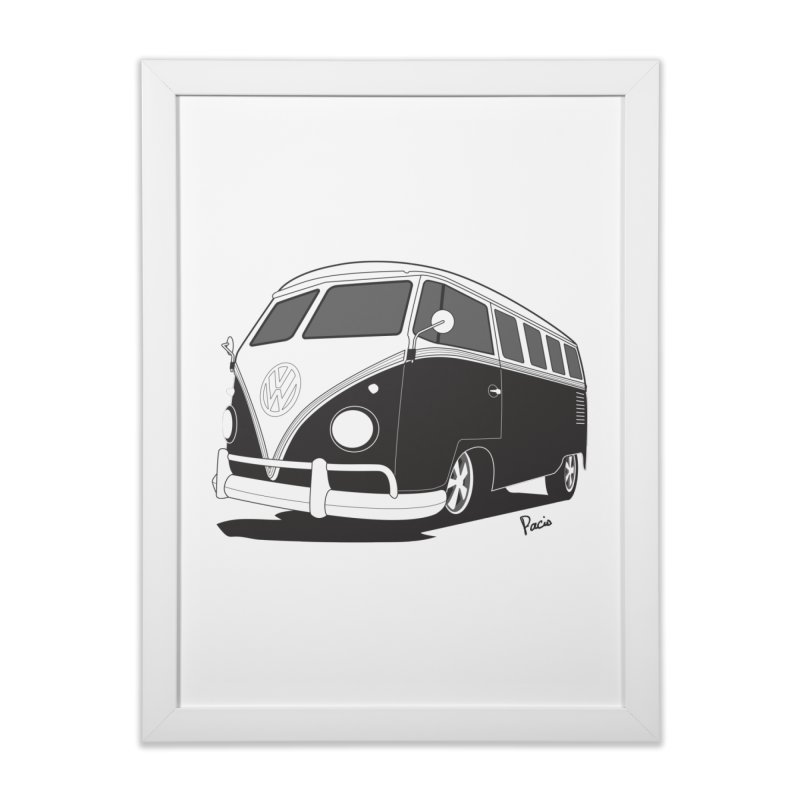 Samba Bus Home Framed Fine Art Print by Andrea Pacini