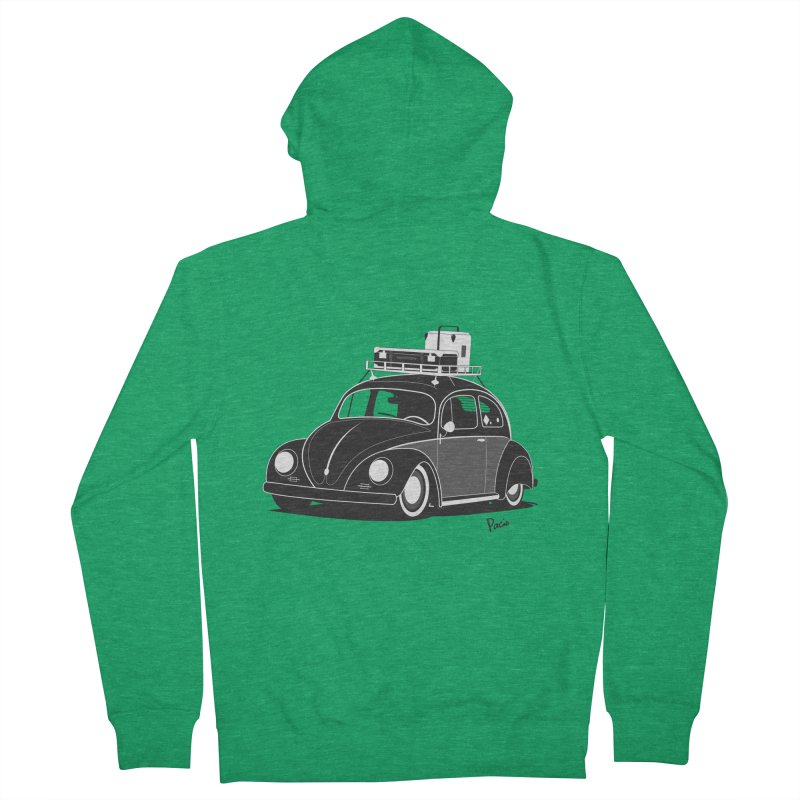 Aircooled Bug Women's Zip-Up Hoody by Andrea Pacini