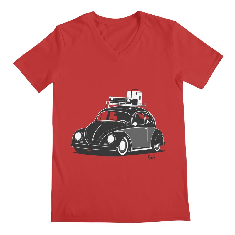 Aircooled Bug Men's V-Neck by Andrea Pacini
