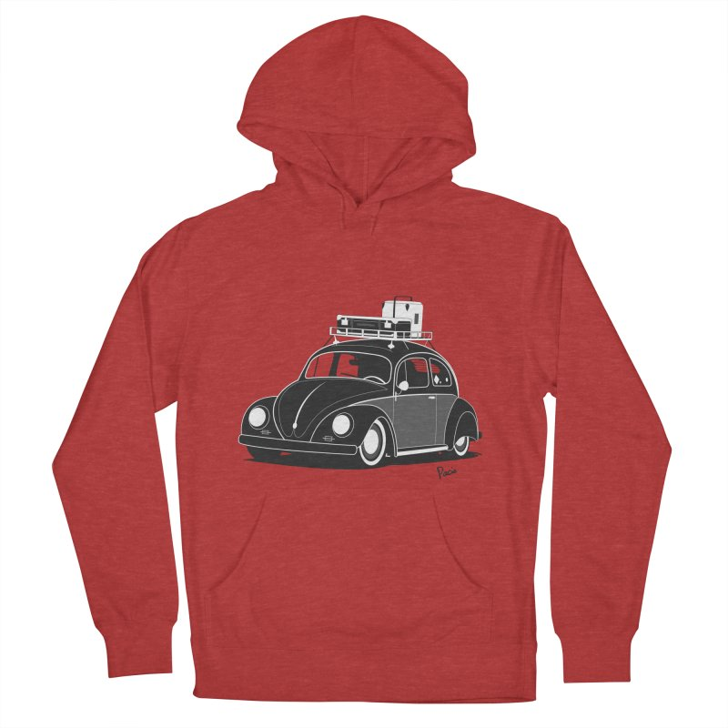 Aircooled Bug Women's French Terry Pullover Hoody by Andrea Pacini