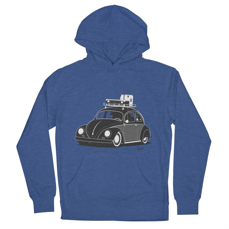 Aircooled Bug Men's French Terry Pullover Hoody by Andrea Pacini