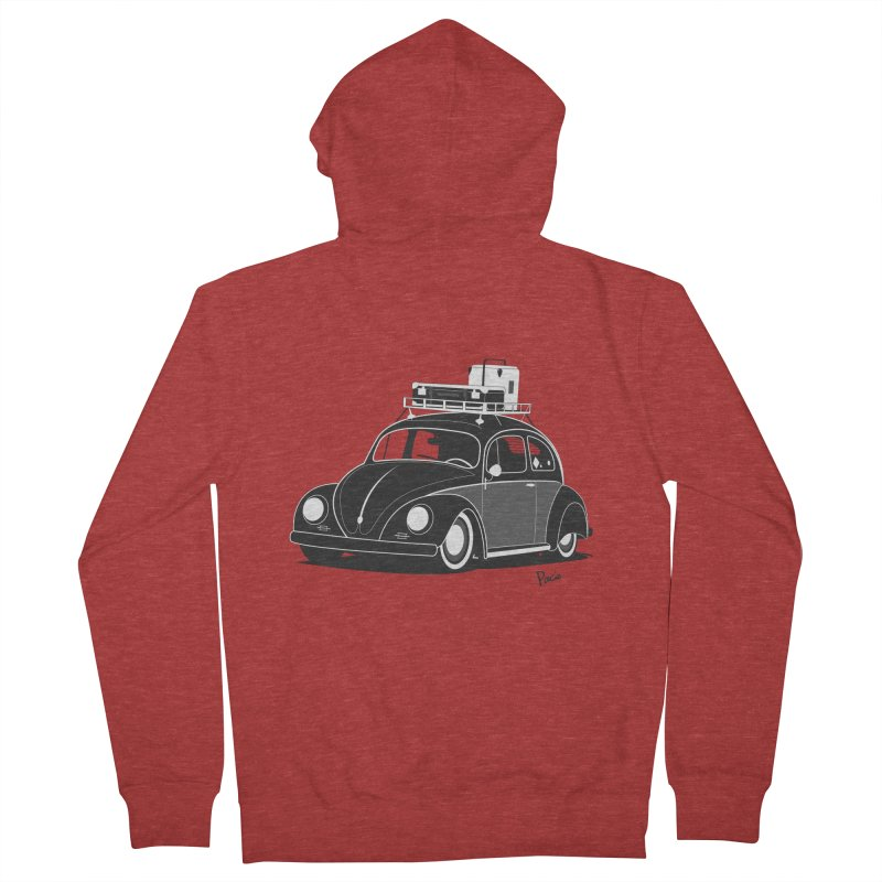 Aircooled Bug Women's French Terry Zip-Up Hoody by Andrea Pacini