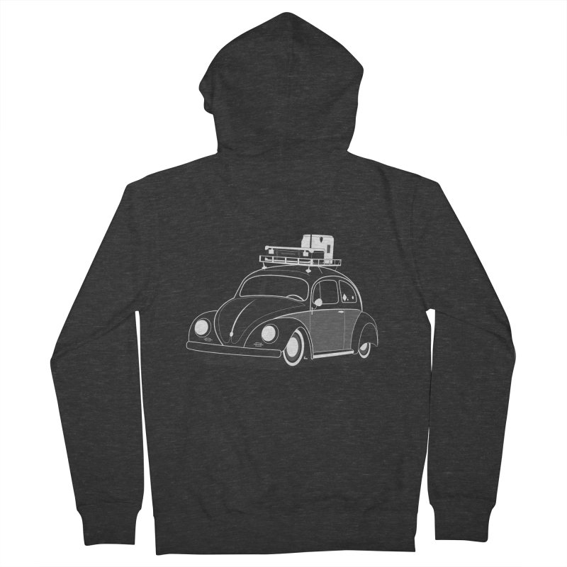 Aircooled Bug Men's Zip-Up Hoody by Andrea Pacini