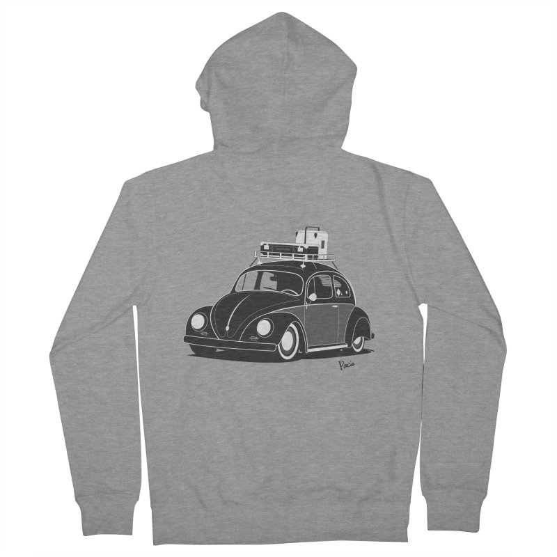 Aircooled Bug Men's French Terry Zip-Up Hoody by Andrea Pacini