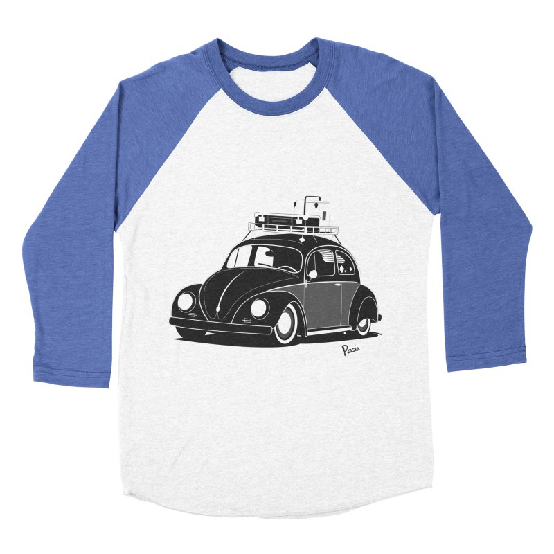 Aircooled Bug Women's Baseball Triblend Longsleeve T-Shirt by Andrea Pacini