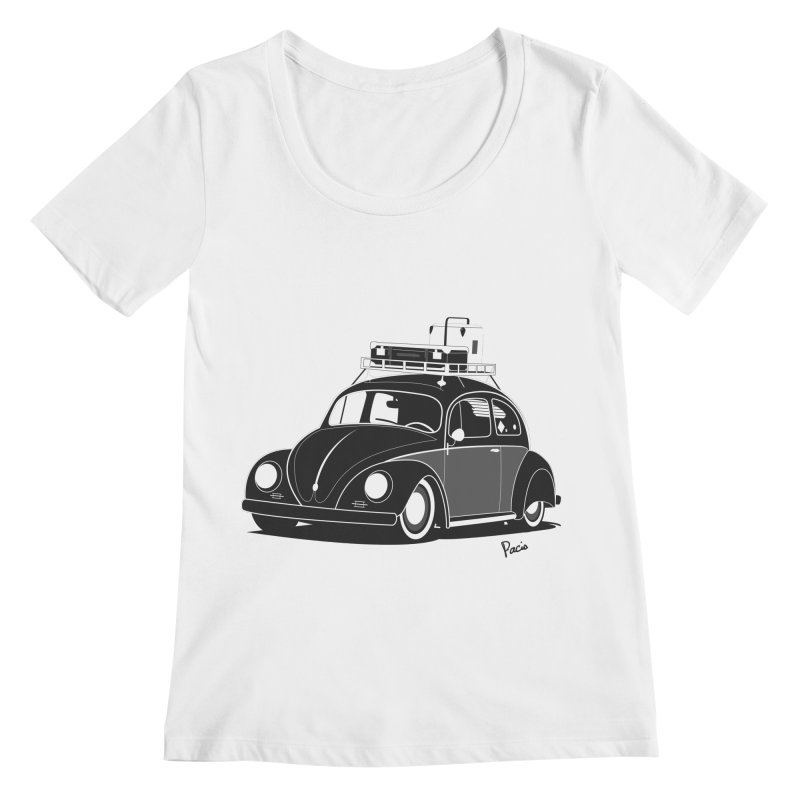 Aircooled Bug Women's Regular Scoop Neck by Andrea Pacini