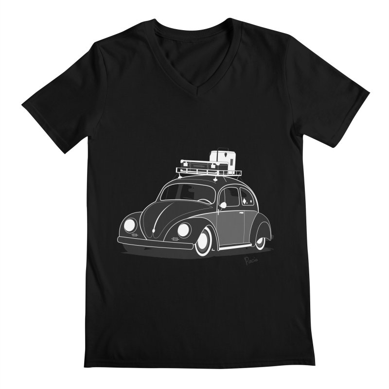 Aircooled Bug Men's Regular V-Neck by Andrea Pacini