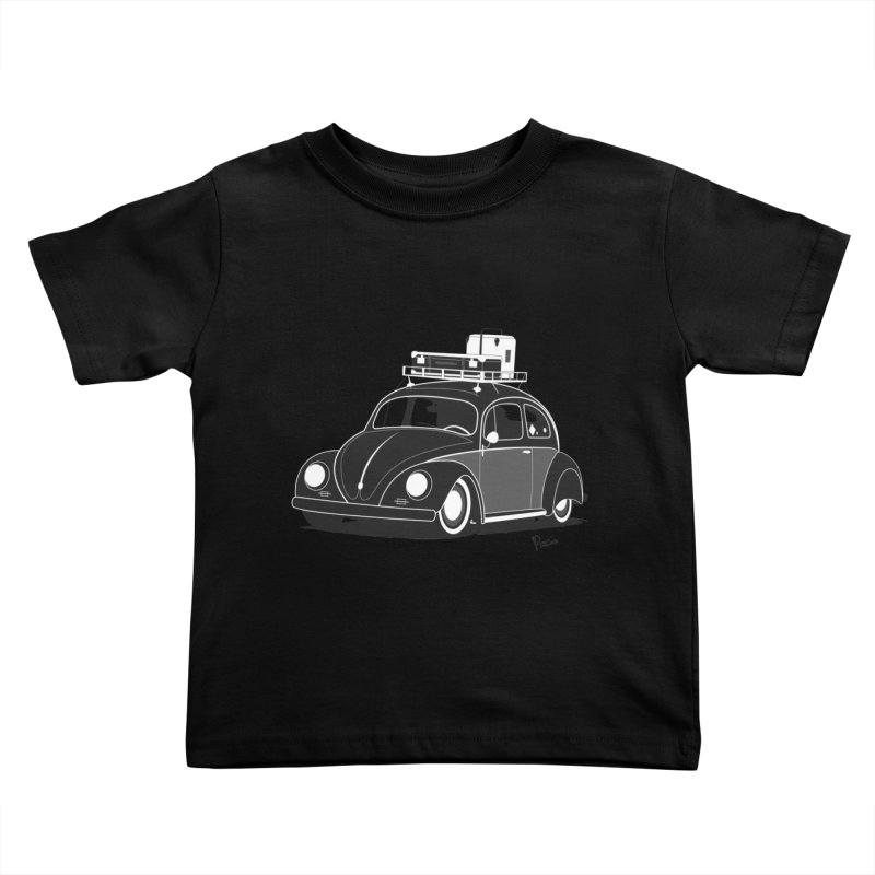 Aircooled Bug Kids Toddler T-Shirt by Andrea Pacini