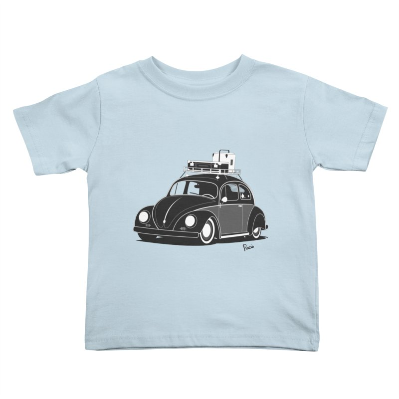 Aircooled Bug Kids Toddler T-Shirt by Andrea Pacini